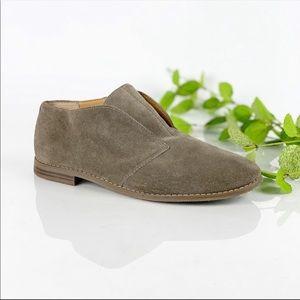 Franco Sarto Taupe Suede Leather Bootie Slip On